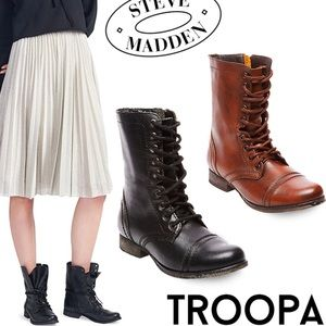 Troopa Brown Ankle Boots | Steve Madden